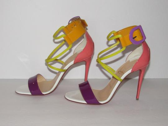 Christian Louboutin Red Sole With Box Buckle Multicolor Sandals Image 3