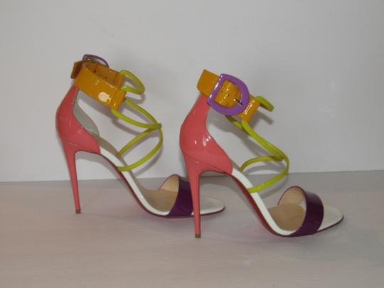 Christian Louboutin Red Sole With Box Buckle Multicolor Sandals Image 4