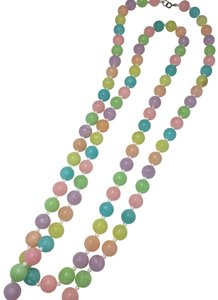 Vintage Vintage colorful beaded long necklace