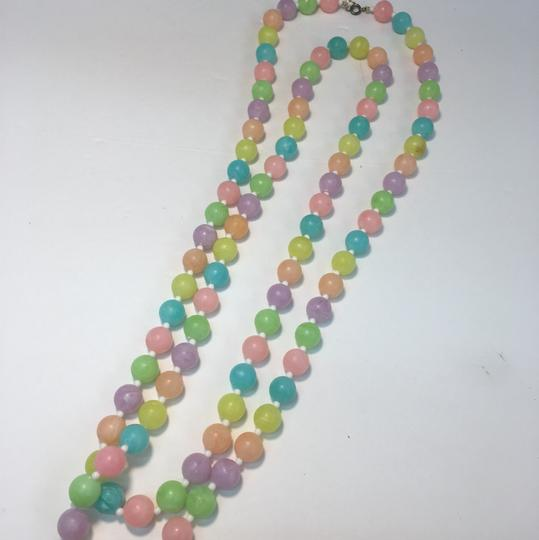 Vintage Vintage colorful beaded long necklace Image 2