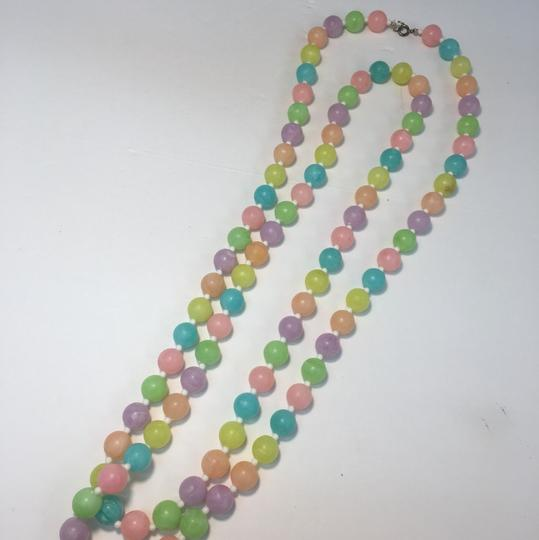 Vintage Vintage colorful beaded long necklace Image 3