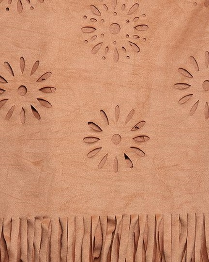 UNBRANDED Spice 90% Polyester 10% Spandex Suede Laser Cut Infinity Image 1