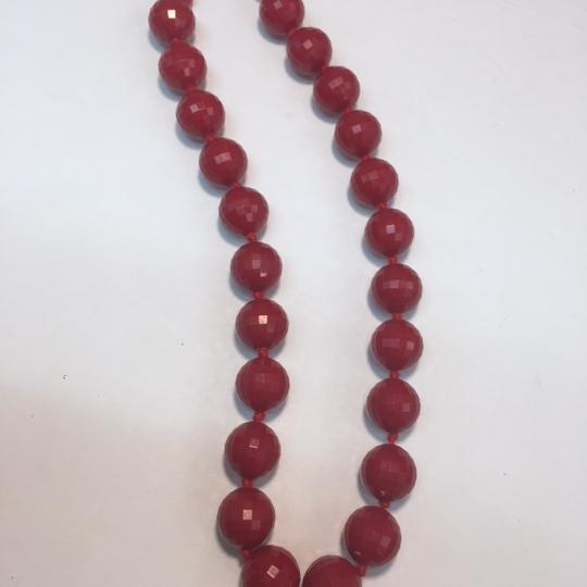 Vintage Vintage Germany red faceted beaded necklace Image 1