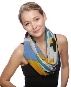 UNBRANDED Multi Color Block Infinity Scarf