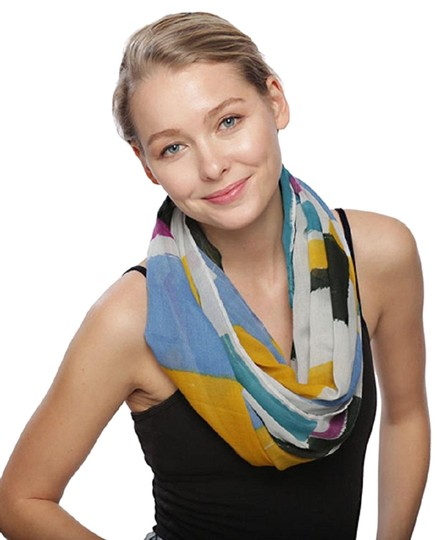 UNBRANDED Multi Color Block Infinity Scarf Image 0