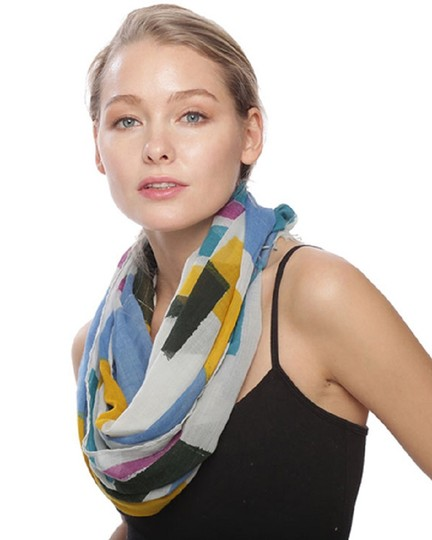 UNBRANDED Multi Color Block Infinity Scarf Image 1