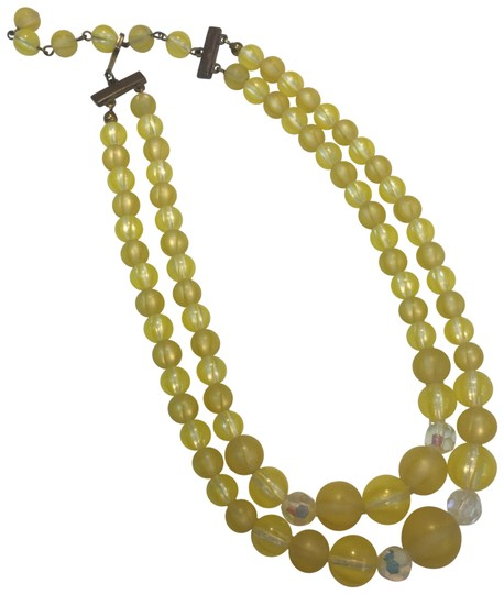 Preload https://img-static.tradesy.com/item/24623780/yellow-bead-and-crystal-multi-strand-necklace-0-2-540-540.jpg