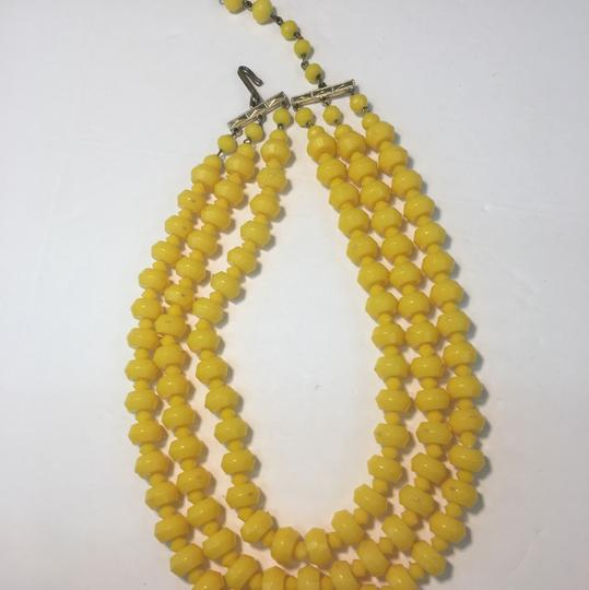 Vintage Vintage yellow beadEd multi strand necklace Image 2