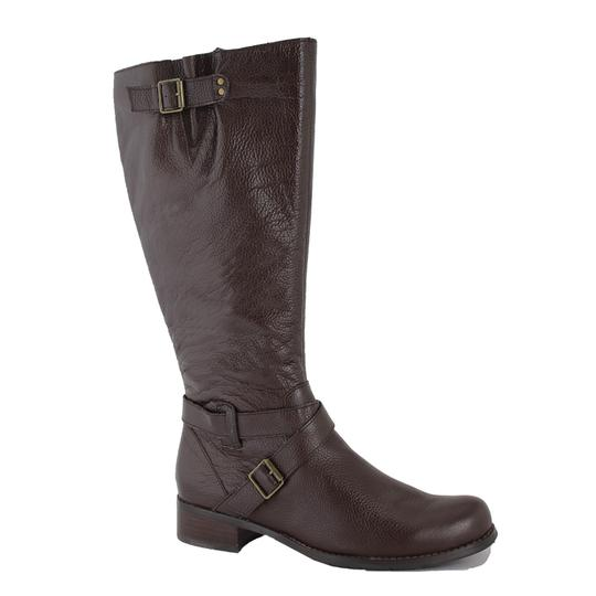 San Jacinto Boot Company Leather Wide Calf Brown Boots Image 0