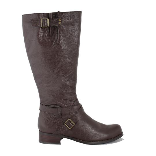 San Jacinto Boot Company Leather Wide Calf Brown Boots Image 1