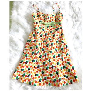 Shoshanna short dress multi color Floral Ribbon Bow Spaghetti Strap on Tradesy