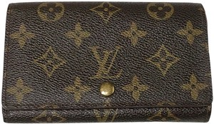 Louis Vuitton Preown Authentic Louis Vuitton Monogram Coin Purse Wallet,Good Conditi