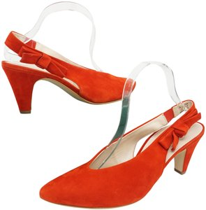 Paul Green High Heels 9 Slingback Size 9 Size 9 Suede Red Pumps