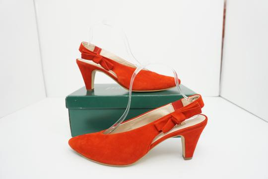 Paul Green High Heels 9 Slingback Size 9 Size 9 Suede Red Pumps Image 1