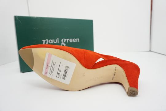 Paul Green High Heels 9 Slingback Size 9 Size 9 Suede Red Pumps Image 10