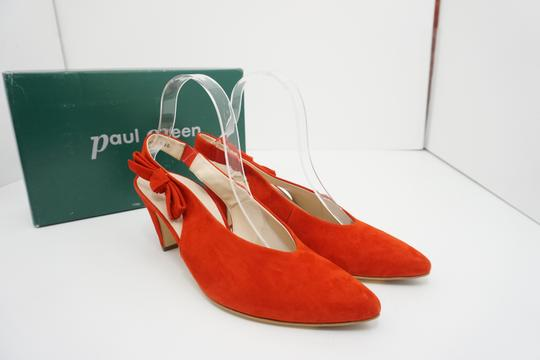 Paul Green High Heels 9 Slingback Size 9 Size 9 Suede Red Pumps Image 11