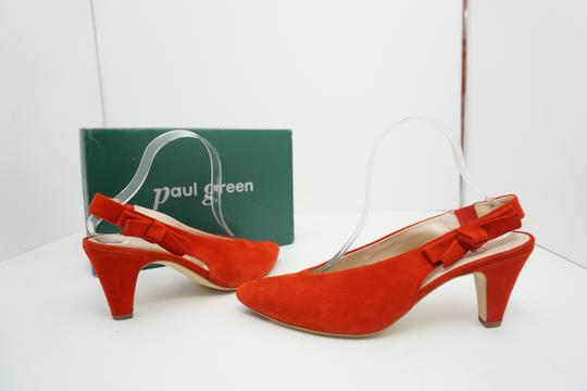 Paul Green High Heels 9 Slingback Size 9 Size 9 Suede Red Pumps Image 2