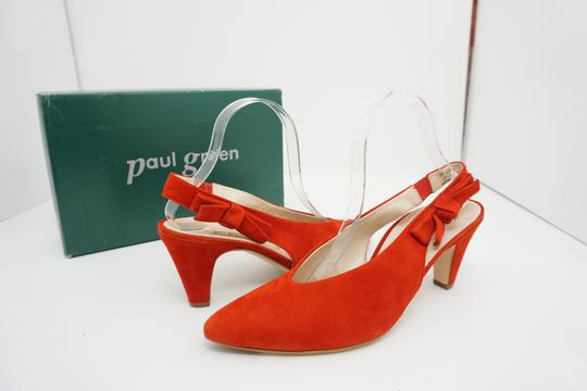 Paul Green High Heels 9 Slingback Size 9 Size 9 Suede Red Pumps Image 3