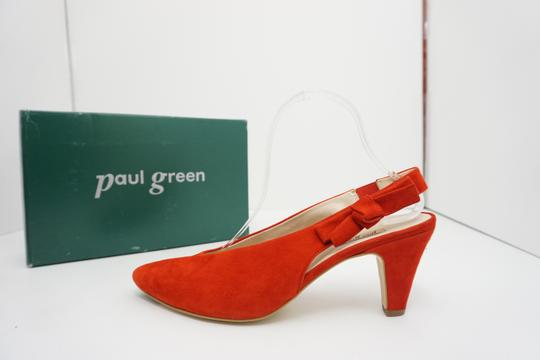 Paul Green High Heels 9 Slingback Size 9 Size 9 Suede Red Pumps Image 4