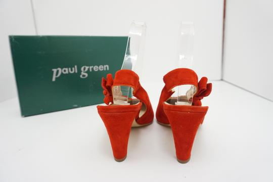 Paul Green High Heels 9 Slingback Size 9 Size 9 Suede Red Pumps Image 5