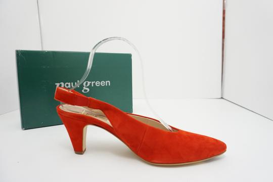 Paul Green High Heels 9 Slingback Size 9 Size 9 Suede Red Pumps Image 6