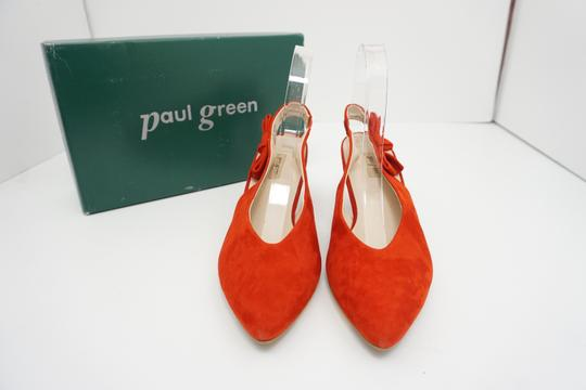 Paul Green High Heels 9 Slingback Size 9 Size 9 Suede Red Pumps Image 7