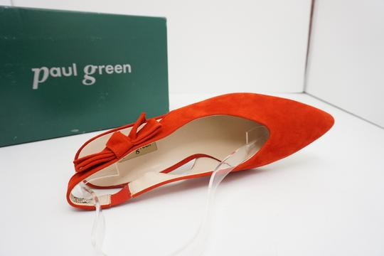 Paul Green High Heels 9 Slingback Size 9 Size 9 Suede Red Pumps Image 8
