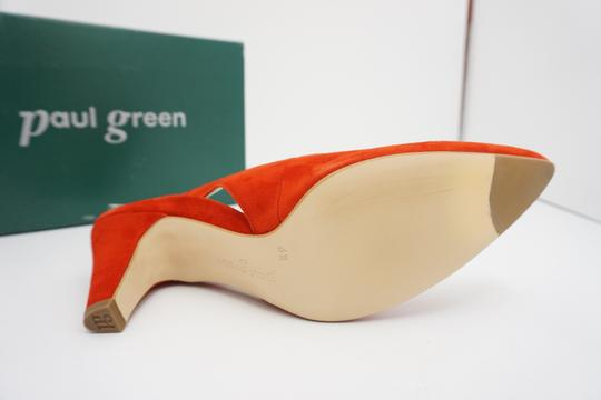Paul Green High Heels 9 Slingback Size 9 Size 9 Suede Red Pumps Image 9