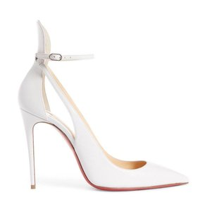 shop best sellers modern techniques extremely unique Christian Louboutin White Mascara 100 Kid Leather Stiletto Classic Ankle  Strap Heel Pumps Size EU 39.5 (Approx. US 9.5) Regular (M, B)