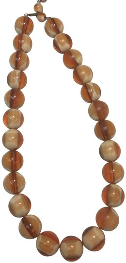 Preload https://img-static.tradesy.com/item/24623972/brown-and-cream-glass-beaded-necklace-0-2-540-540.jpg