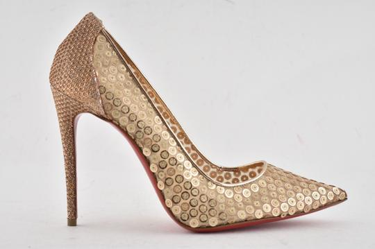 Christian Louboutin Pigalle Follies Stiletto Glitter Classic nude Pumps Image 1
