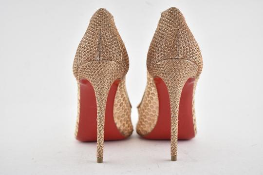 Christian Louboutin Pigalle Follies Stiletto Glitter Classic nude Pumps Image 10