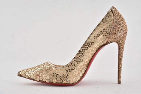 Christian Louboutin Pigalle Follies Stiletto Glitter Classic nude Pumps Image 7
