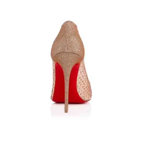Christian Louboutin Pigalle Follies Stiletto Glitter Classic nude Pumps Image 9