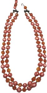 Vintage Vintage red beaded multi strand necklace