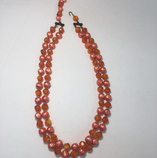 Vintage Vintage red beaded multi strand necklace Image 1