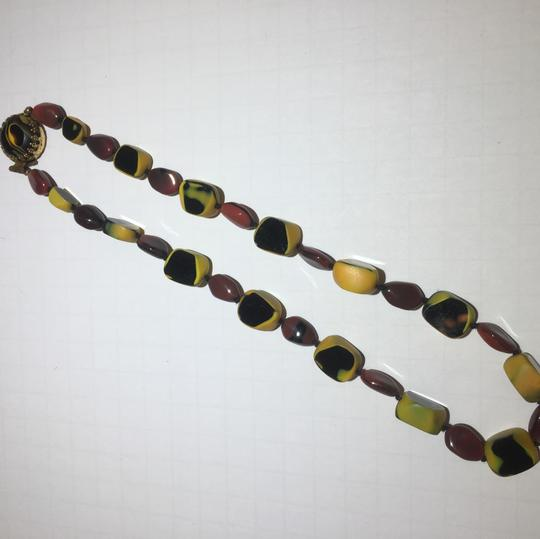 Vintage Vintage glass beaded necklace & earrings Image 2