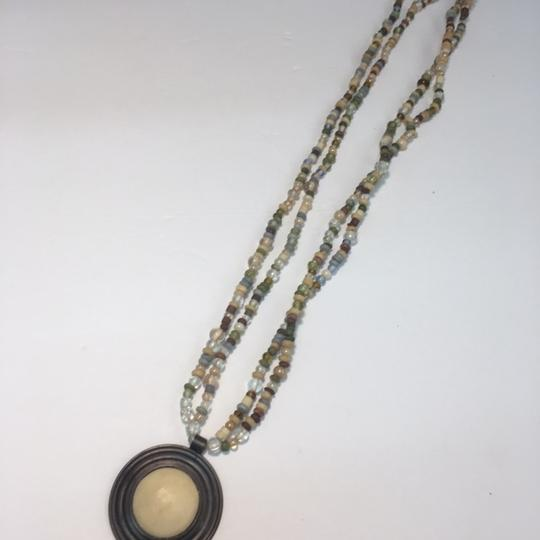 Vintage Vintage beaded double strand pendant necklace Image 2