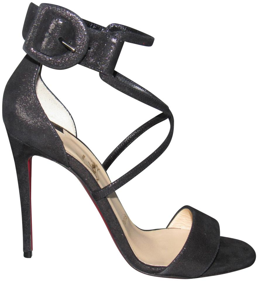 3d6bba593317 Christian Louboutin Criss Cross Red Sole With Box Black Sandals Image 0 ...