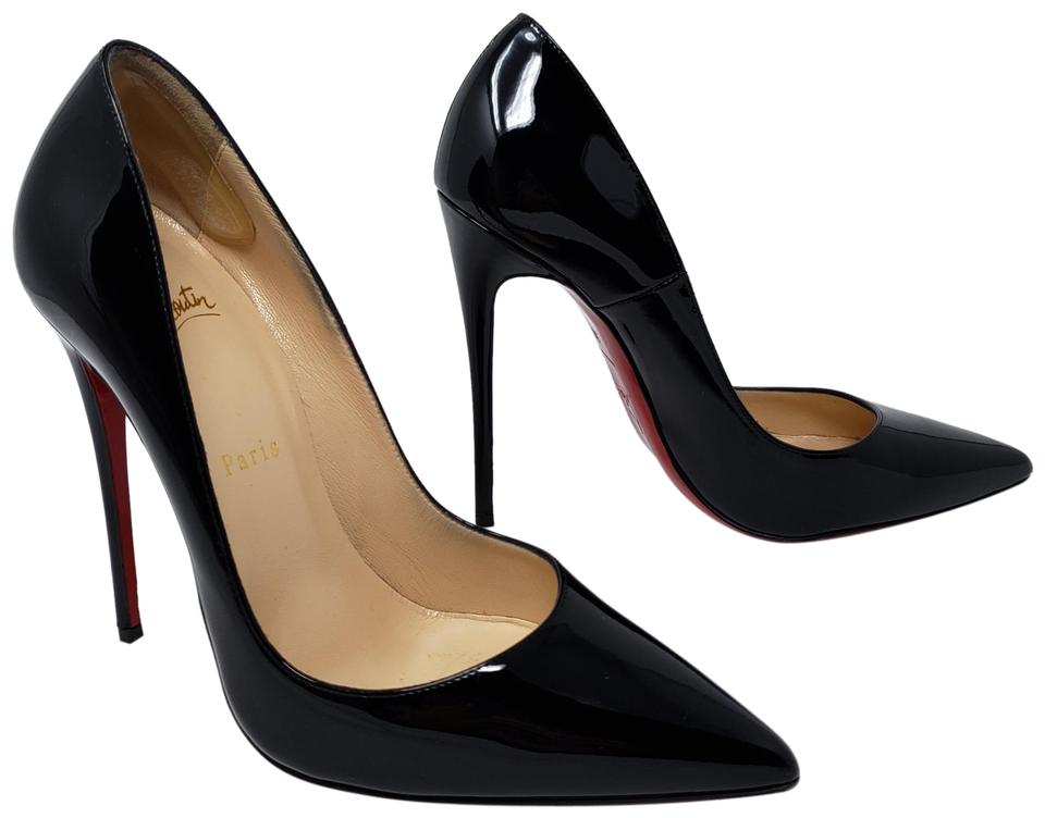 wholesale dealer 9545c 6ffce Christian Louboutin Black Patent Leather So Kate Peep-toe Pumps Size EU 38  (Approx. US 8) Regular (M, B) 35% off retail