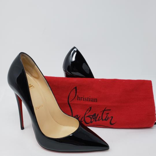 Christian Louboutin Patent Leather Pointed Toe So Kate Pigalle Crystal Black Pumps Image 1