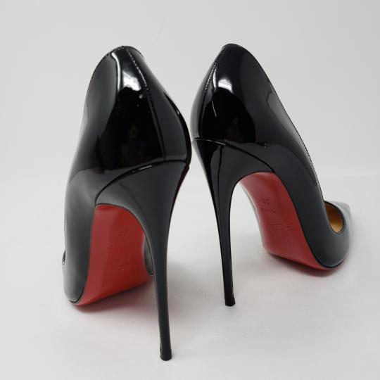 Christian Louboutin Patent Leather Pointed Toe So Kate Pigalle Crystal Black Pumps Image 10