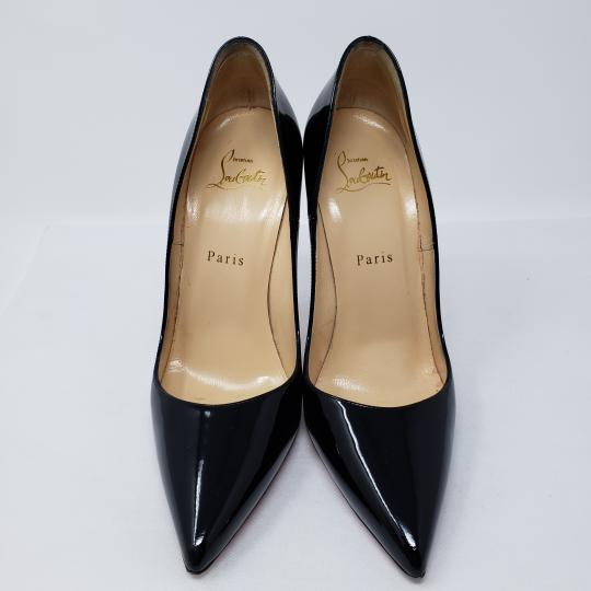 Christian Louboutin Patent Leather Pointed Toe So Kate Pigalle Crystal Black Pumps Image 5