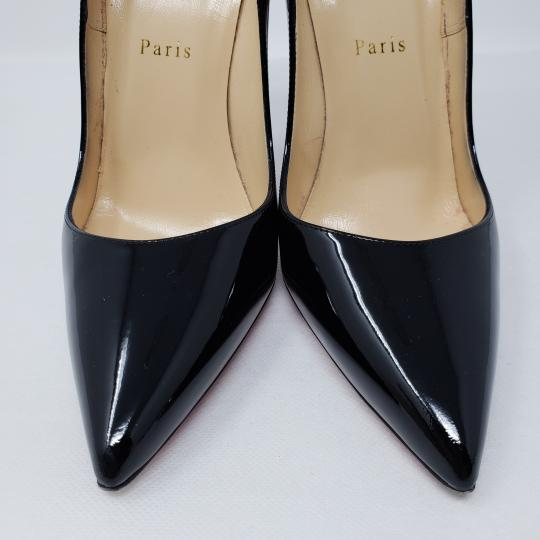 Christian Louboutin Patent Leather Pointed Toe So Kate Pigalle Crystal Black Pumps Image 6