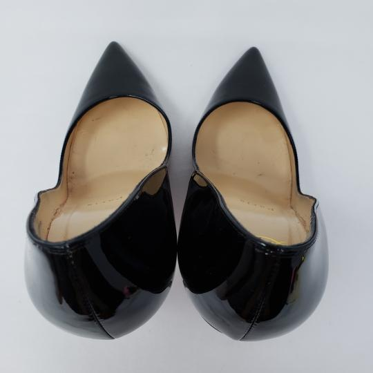 Christian Louboutin Patent Leather Pointed Toe So Kate Pigalle Crystal Black Pumps Image 8