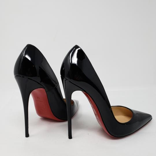 Christian Louboutin Patent Leather Pointed Toe So Kate Pigalle Crystal Black Pumps Image 9
