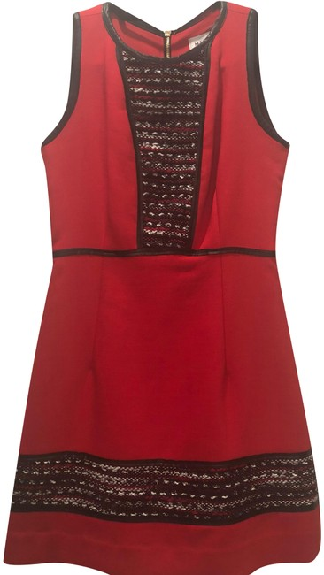 Preload https://img-static.tradesy.com/item/24624241/milly-red-knit-tweed-panel-mini-short-workoffice-dress-size-2-xs-0-1-650-650.jpg