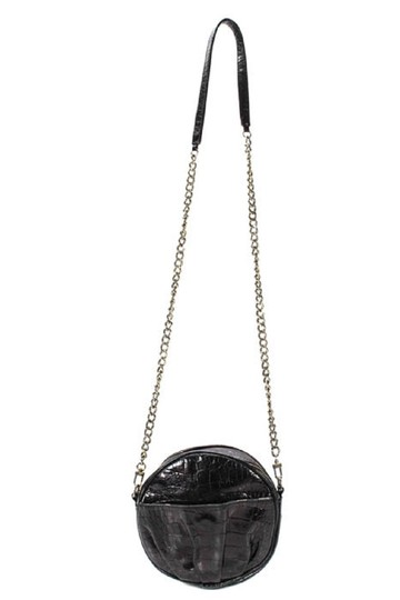 Rebecca Minkoff Stud Accents Shoulder/Cross Chrome/Leather Round/Canteen Style Cross Body Bag