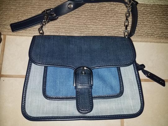 Michael Kors Blue and gray Messenger Bag