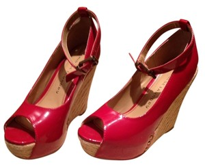 Chinese Laundry Red patent leather Wedges